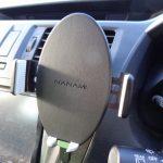 ワイヤレス車載ホルダー エアコン取付タイプを購入。ワンタッチ装着タイプ
